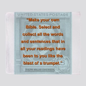 Make Your Own Bible - RW Emerson Throw Blanket