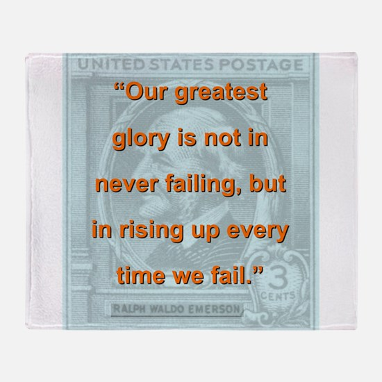 Our Greatest Glory - RW Emerson Throw Blanket