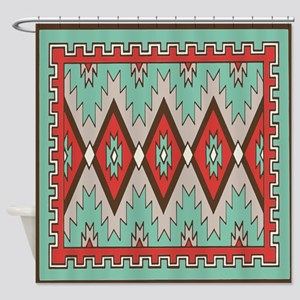 Go In Peace American Indian Pattern Shower Curtain