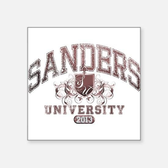 Sanders Last Name University Class of 2013 Sticker