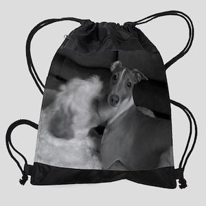 Italian Greyhound  Shih Tzu Puppylo Drawstring Bag