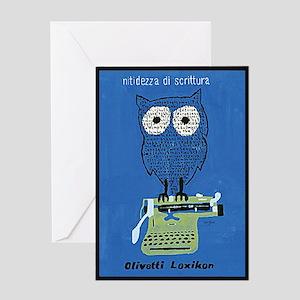 typewriter owl thank you Greeting Card