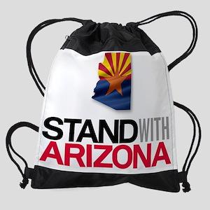 Stand w AZ Banner Drawstring Bag