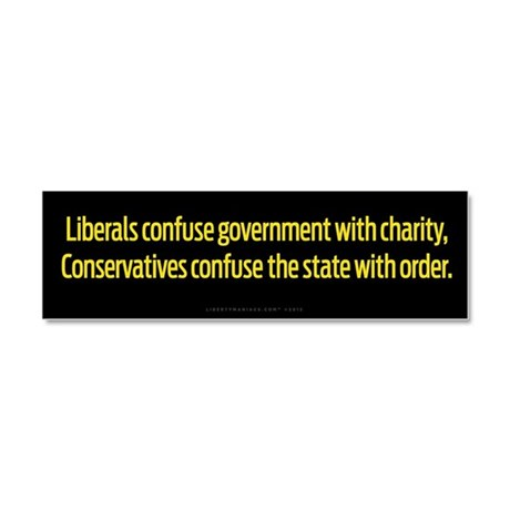 Government Confusion Car Magnet 10 x 3