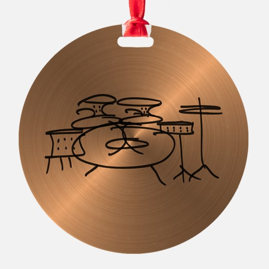 Cute Drumming Ornament