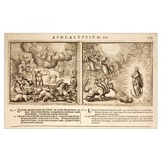 1682 Bible Hydra - Beast of Apocalypse Framed Print