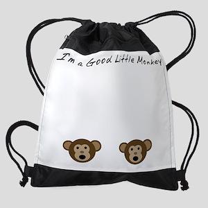 Im A Good Little Monkey Drawstring Bag