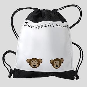 Daddys Little Monkey Drawstring Bag