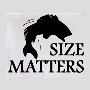 Size Matters Throw Blanket