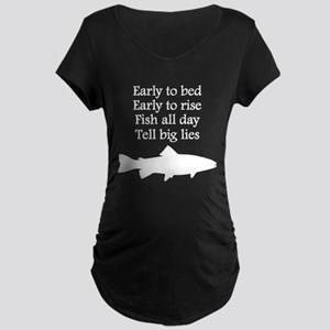 Funny Fish All Day Poem Maternity T-Shirt