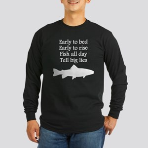 Funny Fish All Day Poem Long Sleeve T-Shirt