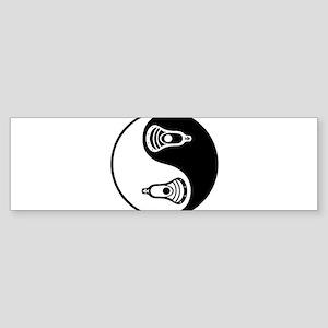 Lacrosse Ying Yang Bumper Sticker