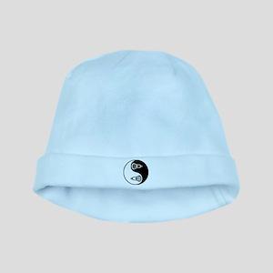 Lacrosse Ying Yang baby hat