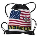US Veteran Drawstring Bag