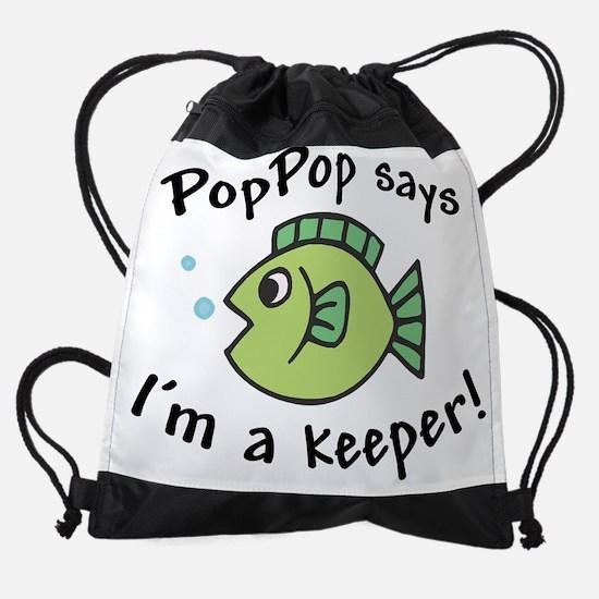 poppopkeeper.png Drawstring Bag