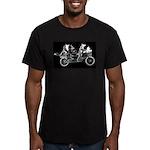 Belgians biking on black T-Shirt