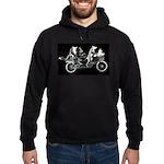 Belgians biking on black Hoodie