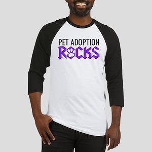 Pet Adoption Rocks Baseball Jersey