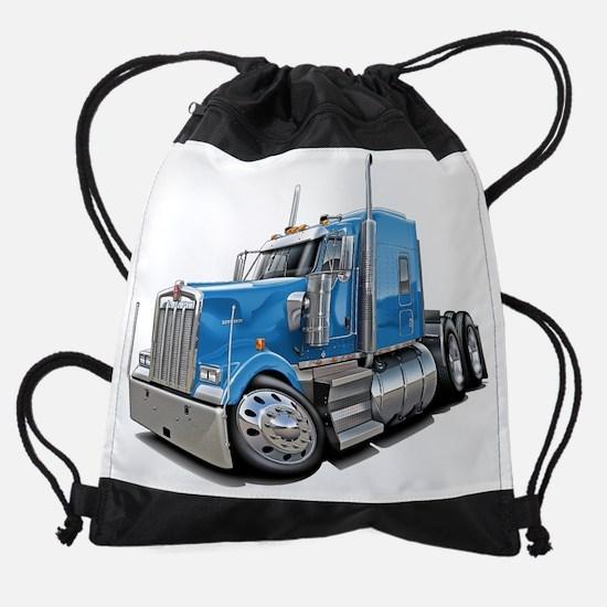Kenworth w900 Lt Blue Truck.png Drawstring Bag