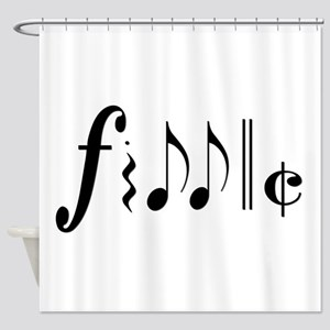 fiddle notes png Shower Curtain