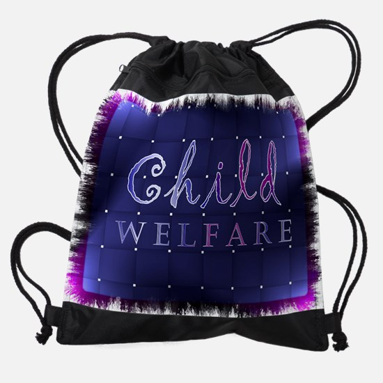 child welfare.jpg Drawstring Bag