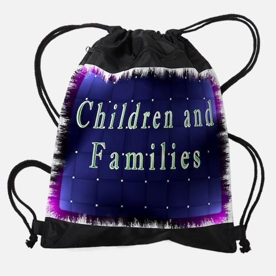 children and families.jpg Drawstring Bag
