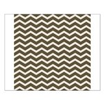 Brown Cocoa Chevron Posters