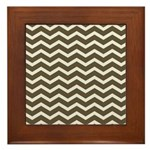 Brown Cocoa Chevron Framed Tile