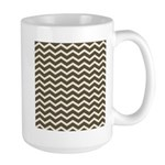 Brown Cocoa Chevron Mug