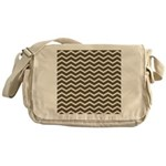 Brown Cocoa Chevron Messenger Bag