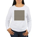 Brown Cocoa Chevron Long Sleeve T-Shirt
