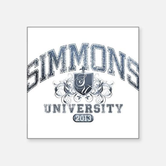 Simmons Last Name University Class of 2013 Sticker
