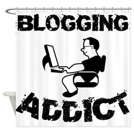 Blogging Addict Shower Curtain