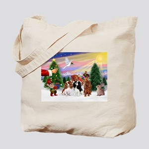 Treat for 3 Cavaliers Tote Bag