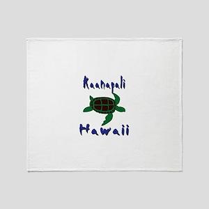 Kaanapali Hawaii Throw Blanket