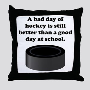 A Bad Day Of Hockey Throw Pillow