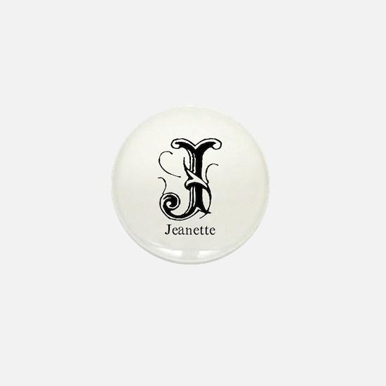 Jeanette: Fancy Monogram Mini Button