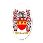 Berry Oval Car Magnet