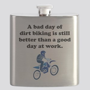 A Bad Day Of Dirt Biking Flask