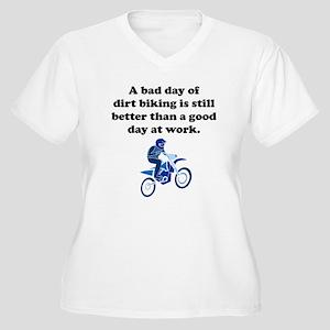 A Bad Day Of Dirt Biking Plus Size T-Shirt