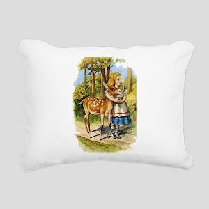 Alice and a Doe Rectangular Canvas Pillow