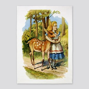 Alice and a Doe 5'x7'Area Rug
