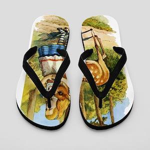 Alice and a Doe Flip Flops