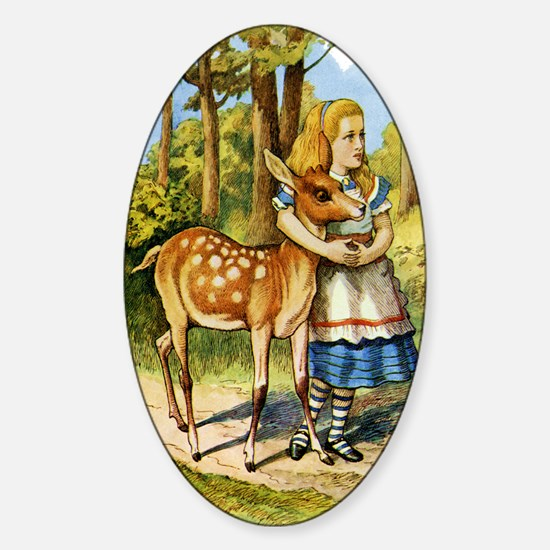 Alice and a Doe Sticker (Oval)