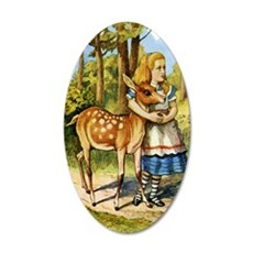 Alice and a Doe Wall Decal