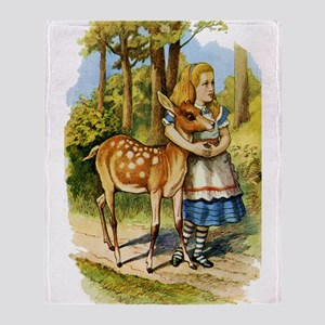 Alice and a Doe Throw Blanket