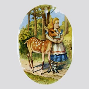 Alice and a Doe Ornament (Oval)