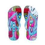 New York Graffiti Flip Flops