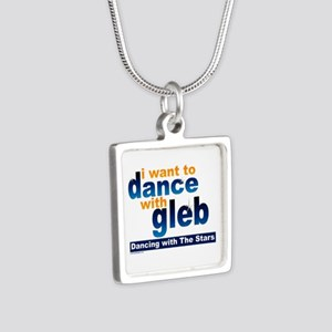 I Want to Dance with Gleb Silver Square Necklace
