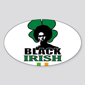 Black Irish Rectangle Sticker